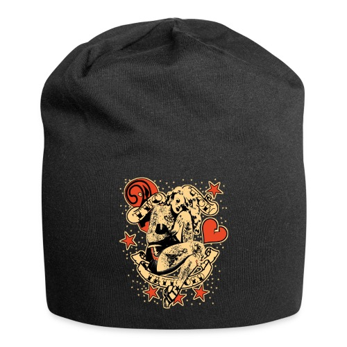 Screwed & tattooed Pin Up Zombie - Jersey Beanie