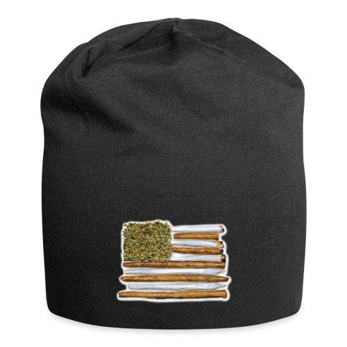 American Flag With Joint - Jersey Beanie