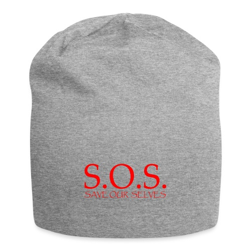sos no emotion red - Jersey Beanie