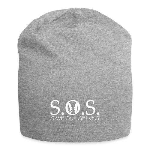 SOS WHITE4 - Jersey Beanie