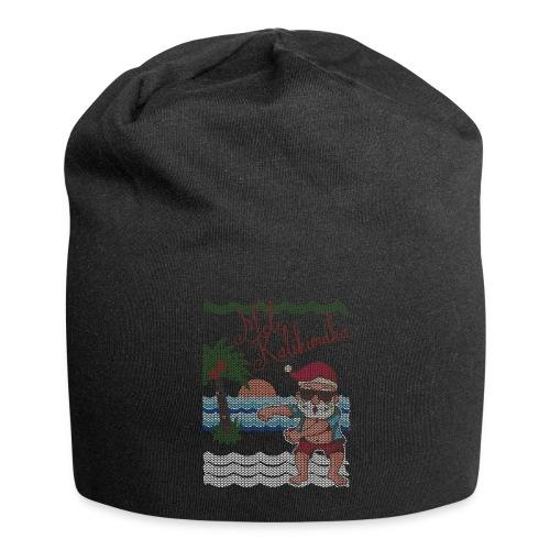 Ugly Christmas Sweater Hawaiian Dancing Santa - Jersey Beanie