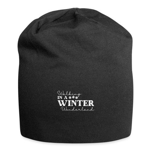 Walking In a Winter Wonderland - Holiday Design - Jersey Beanie