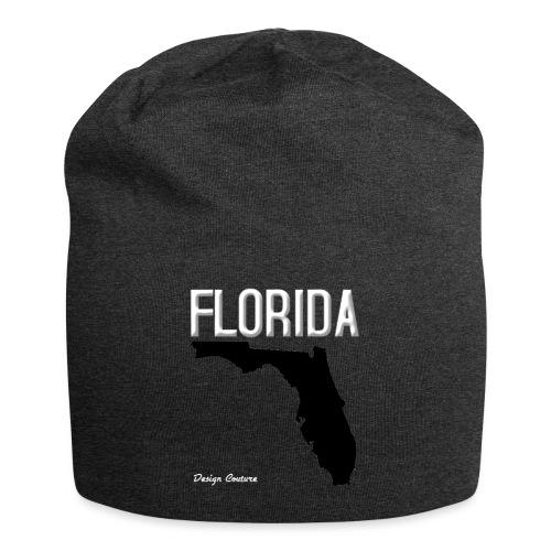 FLORIDA REGION MAP WHITE - Jersey Beanie