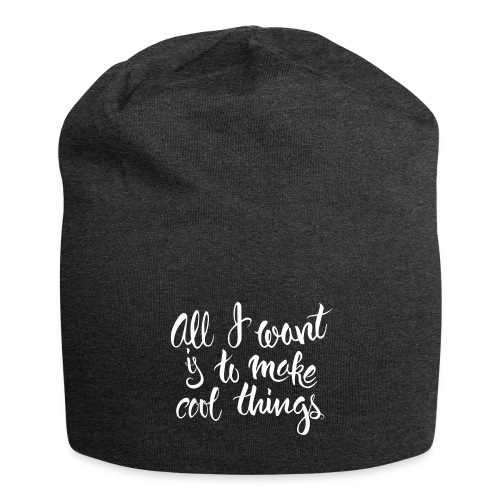 Cool Things White - Jersey Beanie