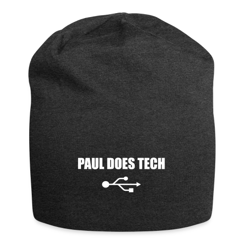 Paul Does Tech White Logo With USB - Jersey Beanie