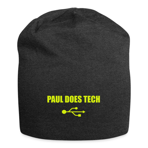 Paul Does Tech Yellow Logo With USB (MERCH) - Jersey Beanie
