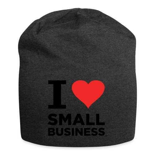 I Heart Small Business (Black & Red) - Jersey Beanie