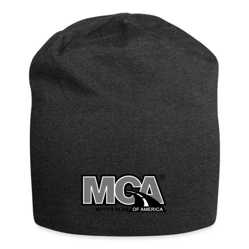 MCA Logo WBG Transparent BLACK WHITE TITLEfw fw pn - Jersey Beanie