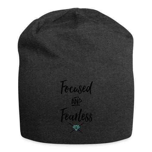 focused fearless (black) - Jersey Beanie