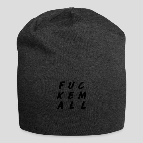 FUCKEMALL Black Logo - Jersey Beanie