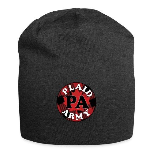 plaid army round - Jersey Beanie