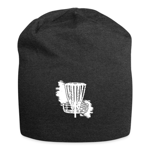 Disc Golf Basket White Print - Jersey Beanie