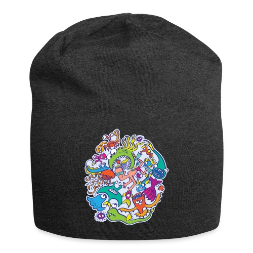 Summer swimming with weird dangerous sea creatures - Jersey Beanie