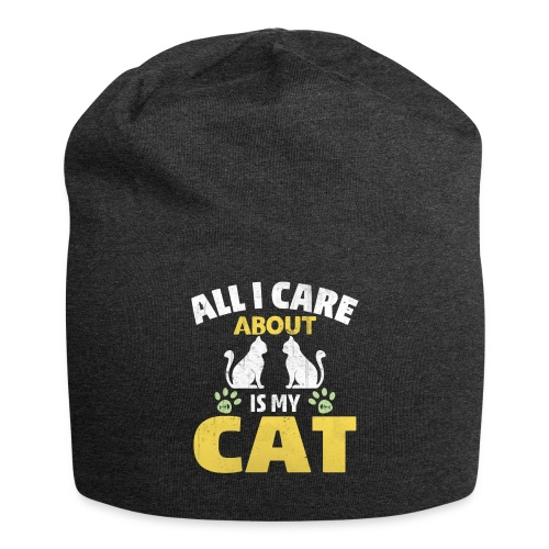 All I care Is My Cat - Jersey Beanie