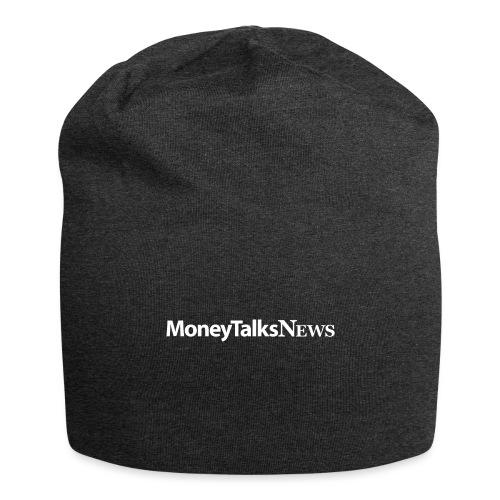 Money Talks News Logo - White - Jersey Beanie