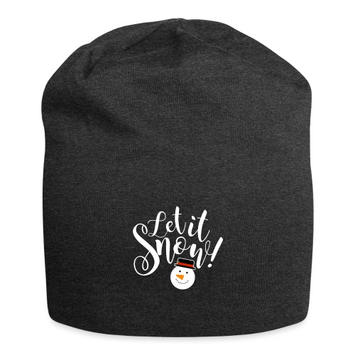 Let It Snow - Holiday Design - Jersey Beanie