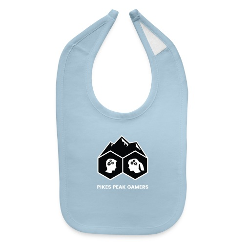 Pikes Peak Gamers Logo (Solid Black) - Baby Bib