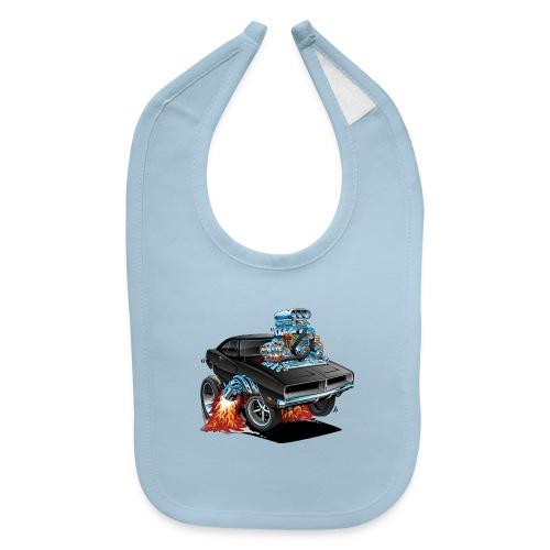 Classic 69 American Muscle Car Cartoon - Baby Bib