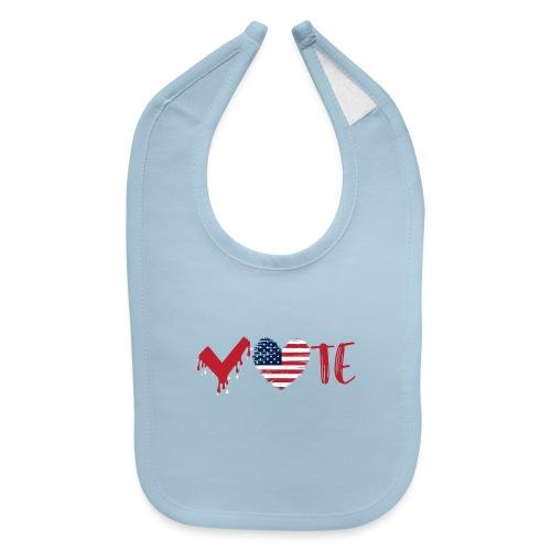 vote heart red - Baby Bib