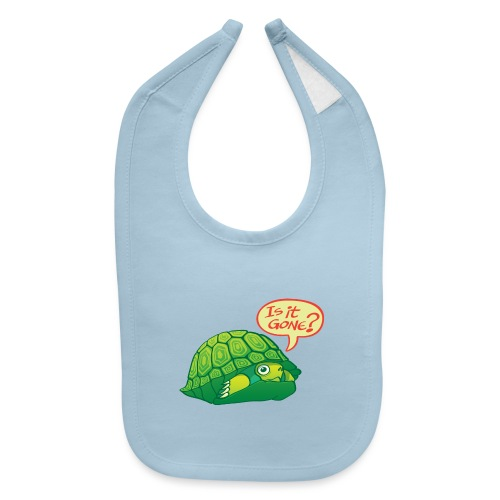 Turtle asking if it's good time to go out of shell - Baby Bib