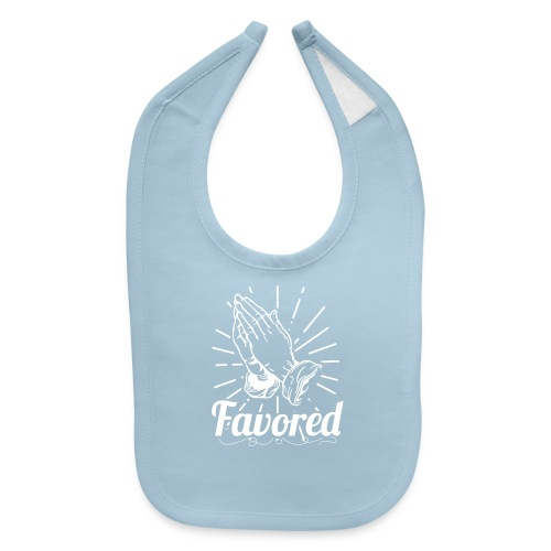 Favored - Alt. Design (White Letters) - Baby Bib
