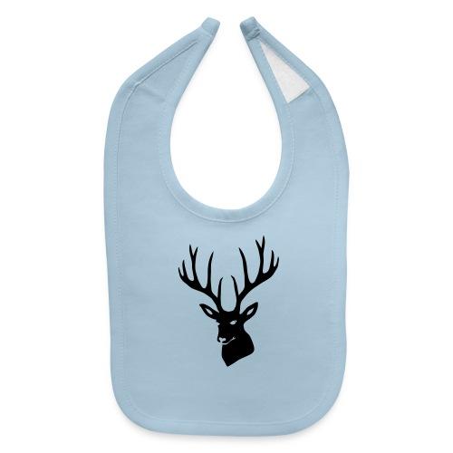stag night deer buck antler hart cervine elk - Baby Bib