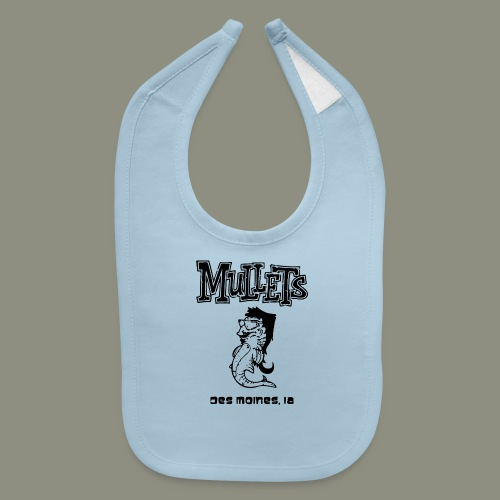 mulletmain black - Baby Bib