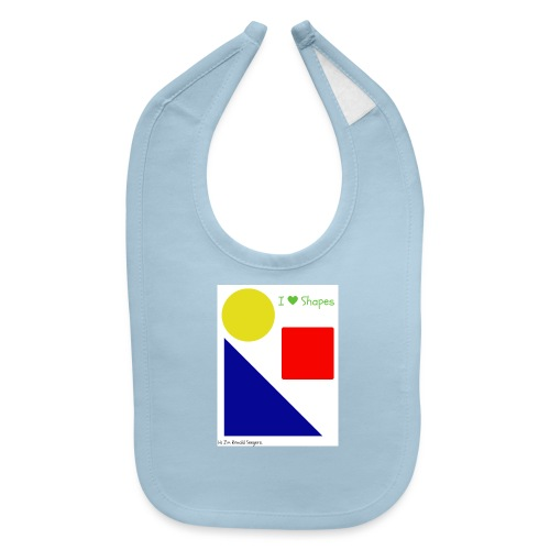 Hi I'm Ronald Seegers Collection-I Love Shapes - Baby Bib