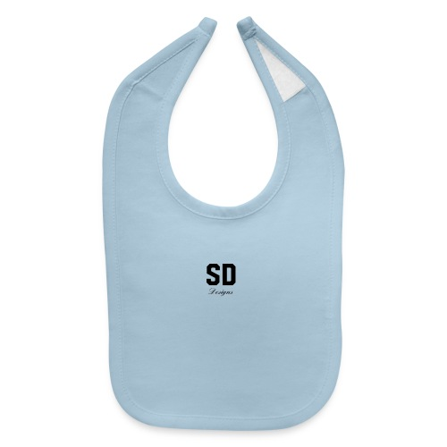 SD Designs blue, white, red/black merch - Baby Bib