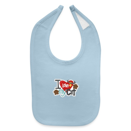 i love my cat - Baby Bib