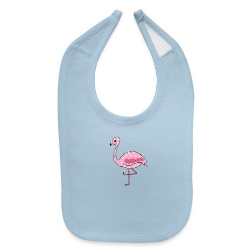 Polka Dotted Flamingo - Baby Bib