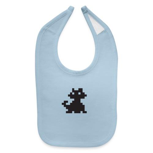 Pixelated Black Cat - Videogame, Retro Gaming - Baby Bib