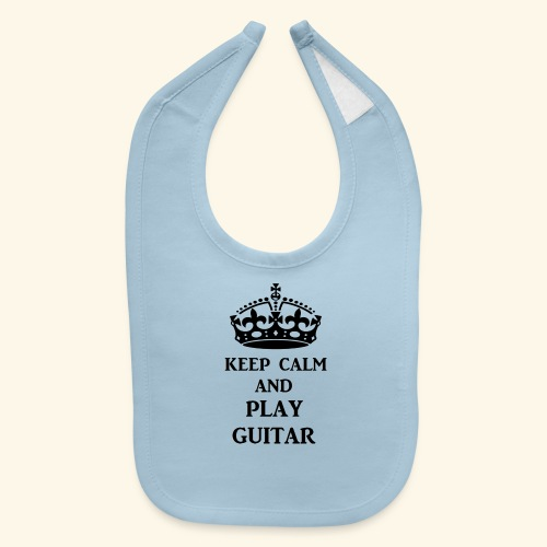 keep calm play guitar blk - Baby Bib