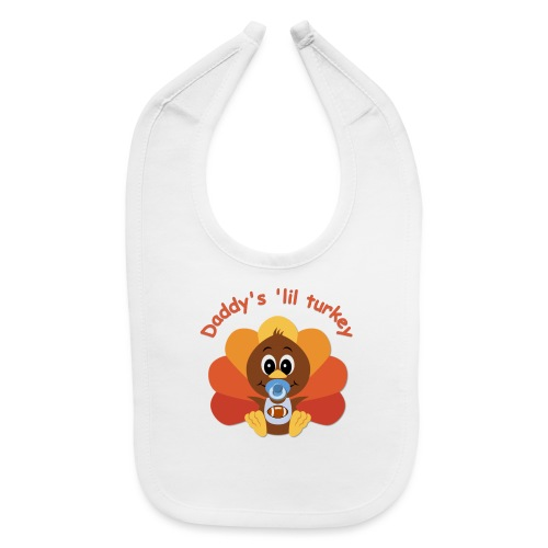 Daddy's 'lil turkey - boy edition - Baby Bib