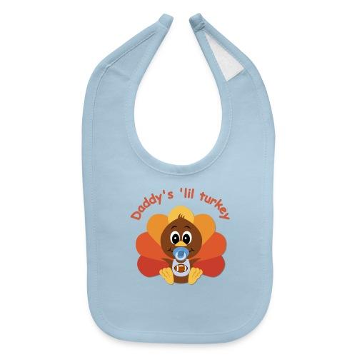 Daddy's 'lil turkey - boy edition - Baby Bib