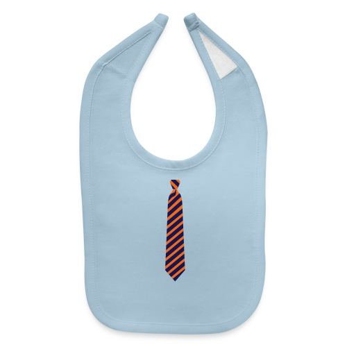2 Color Sports Tie - Baby Bib