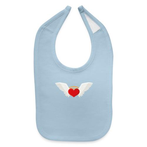 Winged heart - Angel wings - Guardian Angel - Baby Bib