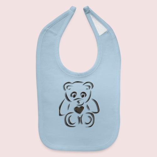 realistic teddy - Baby Bib