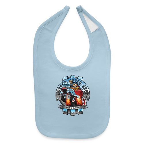Custom Speed Shop Hot Rods and Muscle Cars Illustr - Baby Bib