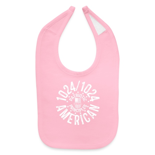 OTHER COLORS AVAILABLE 1024 AMERICAN WHITE - Baby Bib