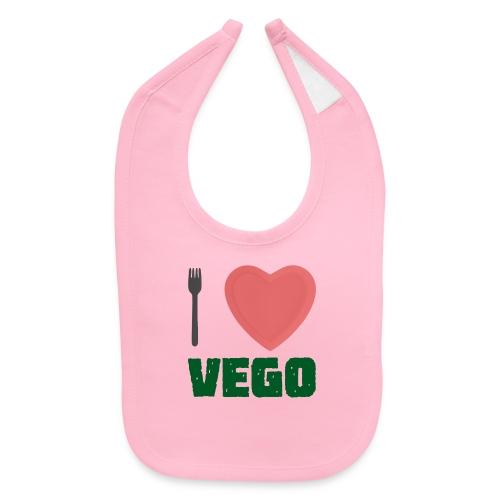 I love Vego - Clothes for vegetarians - Baby Bib