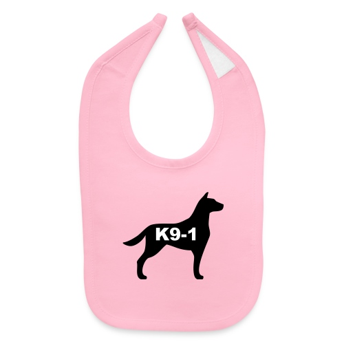 k9-1 Logo Large - Baby Bib