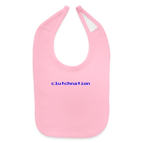clutchnation video game blue logo - Baby Bib