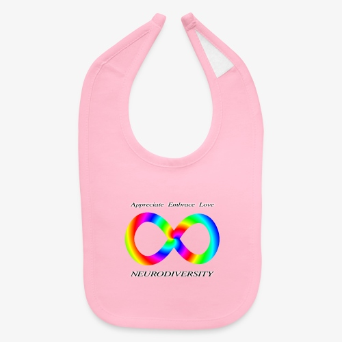 Embrace Neurodiversity with Swirl Rainbow - Baby Bib