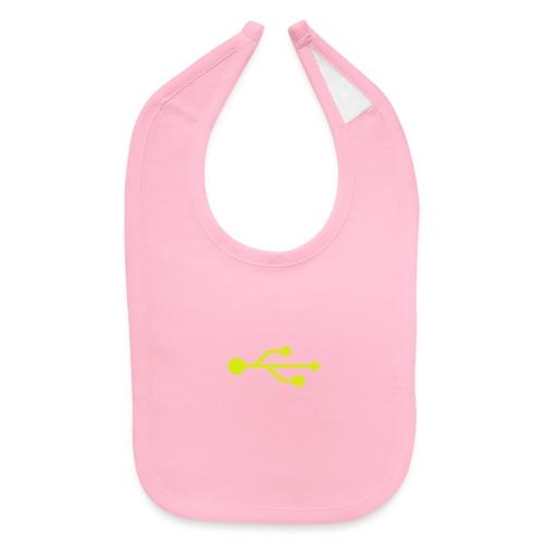Yellow USB Logo Mid - Baby Bib