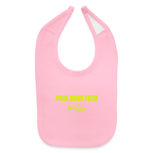 Paul Does Tech Yellow Logo With USB (MERCH) - Baby Bib
