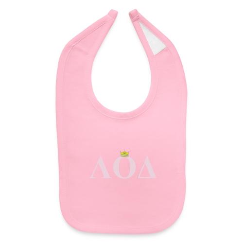 Crown Pink Letters - Baby Bib