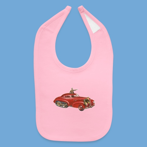 Red Halftrack Coupe - Baby Bib