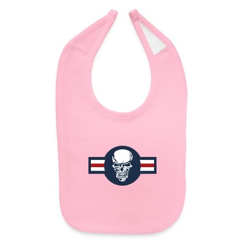 Military aircraft roundel emblem with skull - Baby Bib