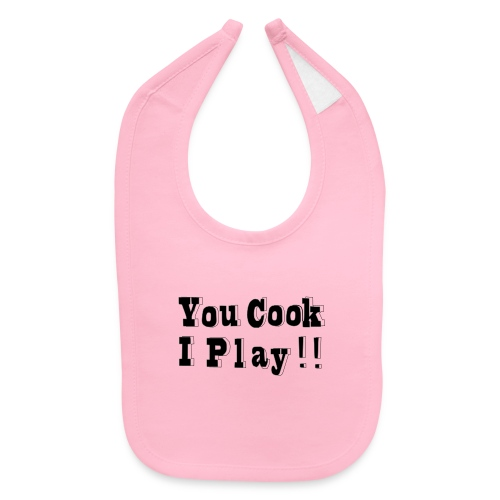 Blk & White 2D You Cook I Play - Baby Bib
